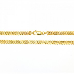 22ct Indian-Asian Gold Two Sided Curb Chain