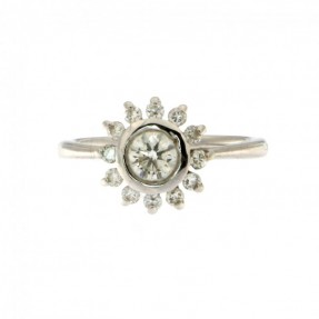 Diamond Ring 0.31ct + 12x0.015ct GVS Clarity (Pre-Owned)