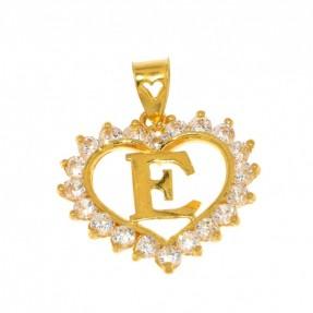22ct Real Gold Asian/Indian/Pakistani Style E Pendant