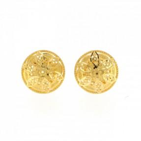 22ct Indian-Asian Gold Filigree Stud Earrings