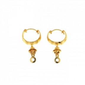 22ct Indian-Asian Gold Hoop Earrings
