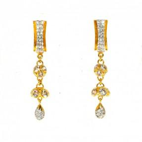22ct Indian Gold Drop Earrings