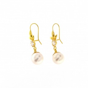22ct Indian-Asian Gold Pearl Earrings