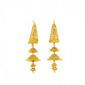22ct Indian Gold Stud Jhumkay Earrings