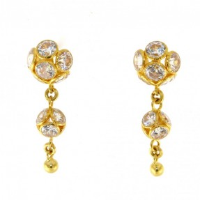22ct Indian Gold Stud Earrings