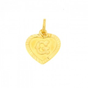 22ct Indian Gold G Pendant