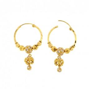 22ct Indian Gold Hoop Earrings