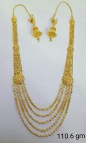 22ct Indian Gold Filigree Rani Haar-Necklace Set