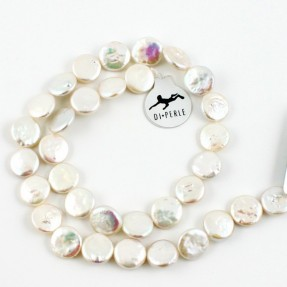 Coin White Pearl String