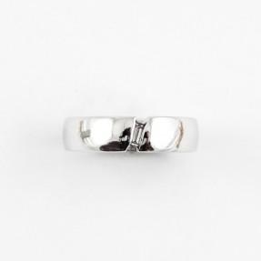 18ct White Gold Diamond Double Sided Wedding Band