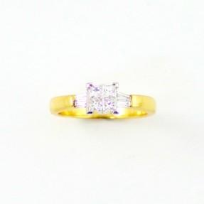 18ct White & Gold 0.50ct Diamond Ring