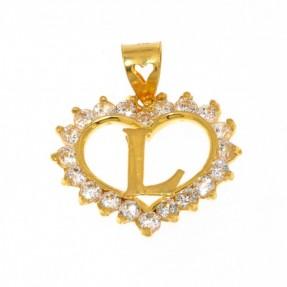 22ct Indian Gold L Pendant