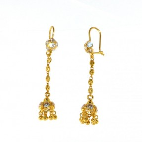 22ct Real Gold Asian/Indian/Pakistani Style Drop Earrings