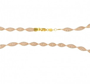 22ct Gold Twisted Ball Chain