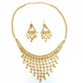 Indian-Asian Filigree Necklace Set (Pre-Owned)