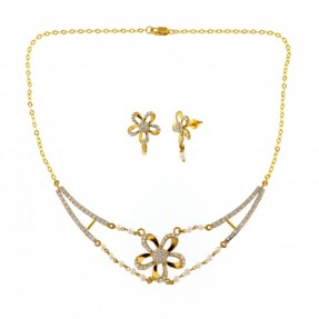22ct Indian-Asian Gold Pearl Necklace Set