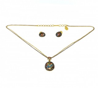 Indian Flower Pendant Set (Pre-Owned)