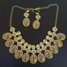 22ct Indian Gold Necklace Set