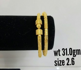 22ct Indian Gold Filigree Openable Karas-Bangles