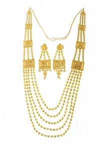 22ct Indian-Asian Gold Filigree Rani Haar-Necklace Set