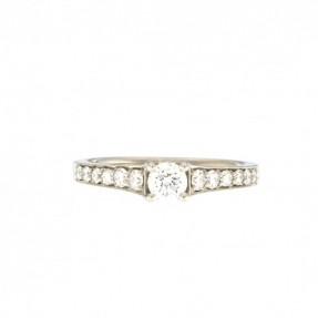 Platinum 0.61ct Diamond Ring