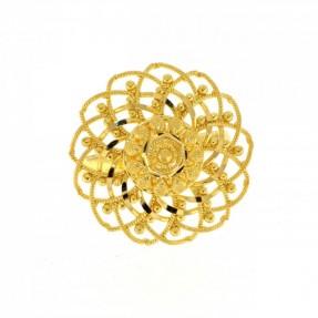 22ct Indian-Asian Gold Filigree Flower Ring