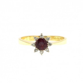 Diamond & Ruby Ring (Pre-Owned)
