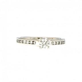 Platinum 0.66ct Diamond Ring