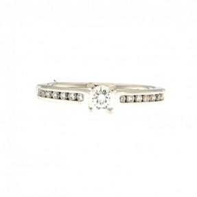 Platinum 0.63ct Diamond Ring