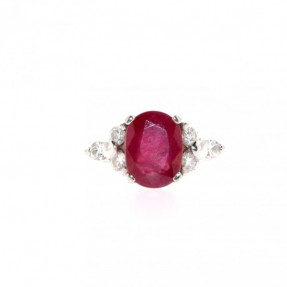 Diamond & Ruby Ring(Pre-Owned)