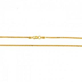22ct Indian Gold Spiga Chain