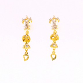 22ct Indian/Asian Gold Jhumkay Earrings
