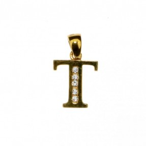 22ct Real Gold Asian/Indian/Pakistani Style T Pendant