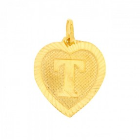 22ct Indian Gold T Pendant