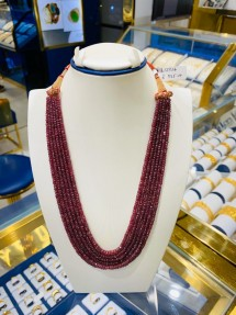 6 Strings Real Ruby Beads Mala-Necklace