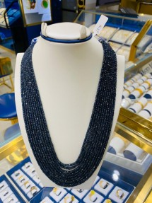 10 Strings Real Sapphire Beads Mala-Necklace