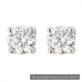 18ct White Gold Stud Earrings