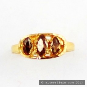 22ct Real Gold Asian/Indian/Pakistani Style Baby Girls Ring
