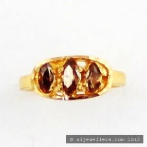 22ct Indian Gold Baby Girls Ring