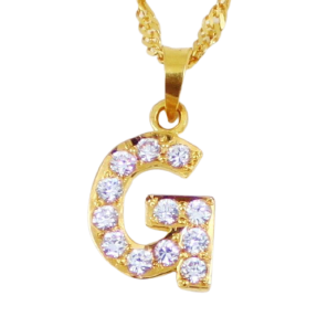 22ct Indian Gold 'G' Pendant