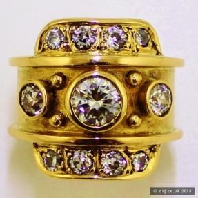 Antique Unisex Diamond Ring