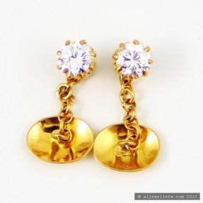22ct Indian Gold Buttons Cufflinks