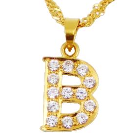 22ct Indian Gold 'B' Pendant