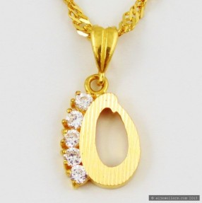 22ct Indian Gold 'O' Pendant