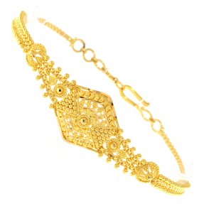 22ct Real Gold Asian/Indian/Pakistani Style Filigree Bracelet