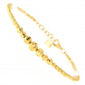22ct Indian/Asian Gold Bead Charm Bracelet