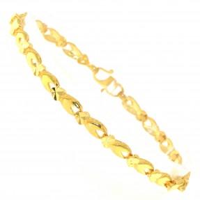22ct Indian/Asian Gold Heart Bracelet