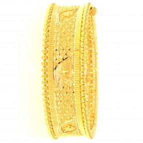 22ct Indian/Asian Filigree Gold Bangle/Kara Openable (Single)