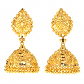 22ct Indian/Asian Gold Earrings Jhumkay
