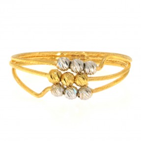 22ct Real Gold Asian/Indian/Pakistani Style Two Colour Gold Ring